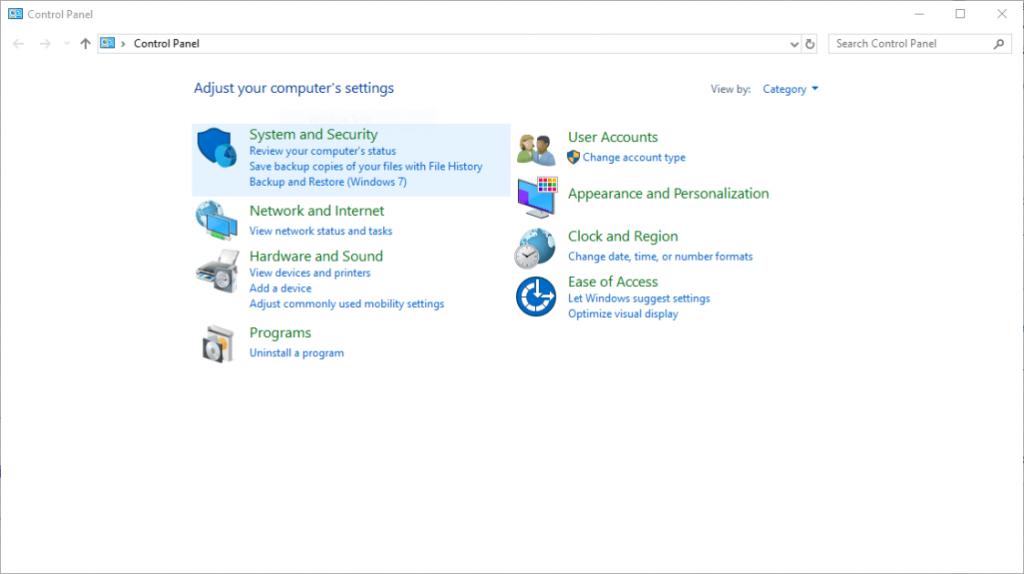 Windows 10 renunta la Control Panel